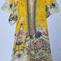 950 Camilla Yellow Embellished Silk Kimono Coat  (So Stunning)  S Photo