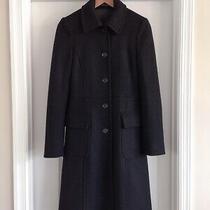 955 Theory Heavy Wool Twill Coat Jacket Classic Lady Day Black P 0 Photo