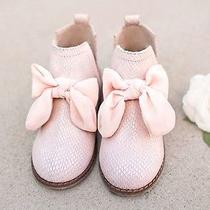 96 Joyfolie Collette in Blush Sz 12t Pink Girl Fall Winter Bow So Cute Photo