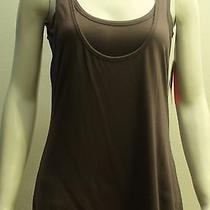 96 Yummie Tummie Charcoal Double Layered Racer Back Tank Top Size Medium Nwt Photo