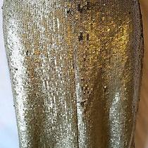 966 Nwt New Yigal Azrouel 8 10 M L Dress Skirt Silver Sequin Party Cocktail Photo