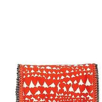 975 Stella Mccartney  Lipstick Red Heart Printed Falabella Clutch Messenger Bag Photo