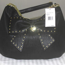 98 Betsey Johnson Black Blk Hopeless Romantic Hobo Bag Handbag Photo