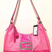 98 Guess Tate Mirror Pink Purse Satchel Handbag Hobo Tote Shop Shopper Bag Croc Photo
