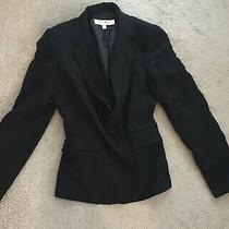 98 Nwot Nine West Blazer Suit Jacket Pinstripe Black 4 Xs Photo
