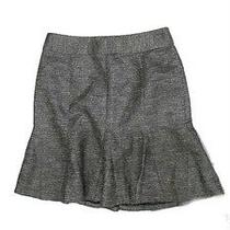 98 Nwt Banana Republic Black Silver Metallic Fluted Shine Skirt Versatile Sz 2 Photo