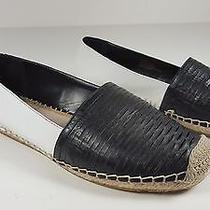 98 Size 6.5 Vince Camuto Disti Perforated Leather Flats Slip on Espadrille Shoe Photo