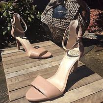 98 Vince Camuto Court Blush Leather Open Toe Ankle Strap Heel Womens Size 8 M Photo