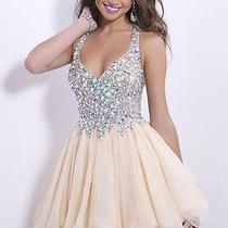 9857 Blush Prom Size 8 Navy Blue Photo