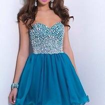 9862 Blush Prom Size 14 in Lagoon  Photo