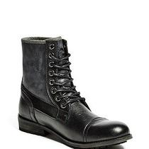 99 G by Guess Men's Trenton Faux Leather and Canvas Ankle Black Boots Size 13 Photo