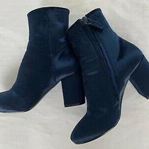995 Balenciaga Blue Velvet Ville Ankle Boots / Booties (Model Fave)  35.5 Photo