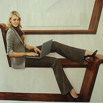 995 Burberry Brown Tweed Dress Pants Us 8 Fra 40 Ger 38 Uk 10 Ita 42   Photo