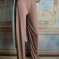 995 New Michael Kors Beige Blush Stretchy Long Leg High Rise Pants 8 Photo
