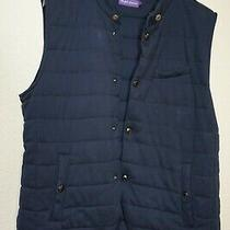 998 Ralph Lauren Purple Cotton Vest Jacket Xl Quilted Navy Cotton Photo