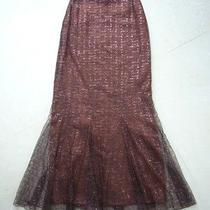 99a Chanel Long Copper Lace Fluted Skirt Fr-34  Photo