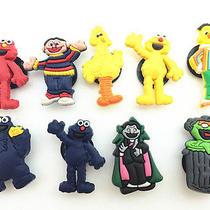 9pcs Sesame Street Elmo Shoe Charms Fits Croc Shoes & Wristband Bracelet Photo