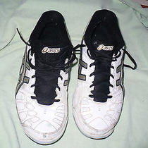 A Asics Gel Game White Leather Athletic Shoes Mens 11 M Photo