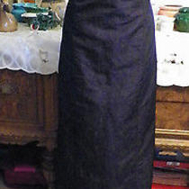 A B S Black Taffeta Wedding  Long Formal Evening Dress Lg  Photo