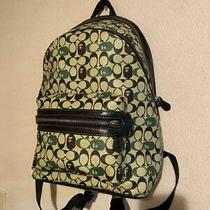 A Bathing Ape X Coach Academy Backpack Signature Canvas Black Copper 332/mn Photo