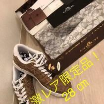 A Bathing Ape X Coach Bapesta Sneaker Shoes Beige Us10 Used From Japan F/s Photo