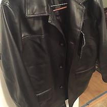 A Collezioni - Italian Leather Motorcycle Jacket - Black - L Photo