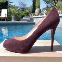 A Delicious Plum Hue745 Nib Christian Louboutin Suede 
