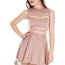 A Diva's Palace Blush Formal Knee-Length Linen Blend Medium Dress Photo
