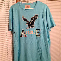 A Eagle E Blue With Black Eagle Men's Top Size Xl American Eagle Outfitters Photo