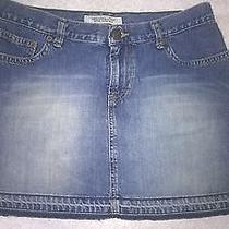 a&f Abercrombie & Fitch Cute Blue Jean Skirt Size 4 Photo
