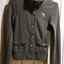 a&f Abercrombie & Fitch Fleece Kids or Small Women's Gray Grey Sweatshirt Xl Photo