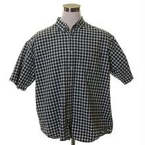 a&f Abercrombie & Fitch Green White Gingham Check Button Biggest Shirt Mens Xl Photo