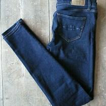 a&f Abercrombie & Fitch Super-Skinny Mid-Rise Jeans (24/28x31) Blue Stretch - Ex Photo