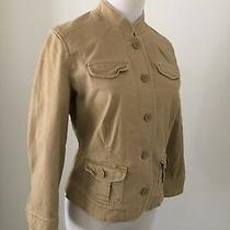 a&f Abercrombie Fitch Womens Sz Xs Beige Long Sleeve High Collar Jacket A50 Photo