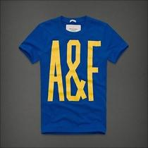 A & F Cotton Short Sleeve Tee Blue/yellow Medium Photo