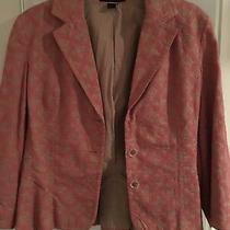 A Good Condit Express Cotton Blazer Jacket Sz 8 Fully Lined  With Free Shipping Photo