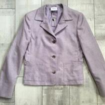 A-K-R-I-S- Luxery Lilac Cashmere & Silk Blazer Cropped Jacket Italy S Us6 Photo