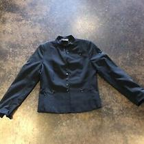 A K R I S Punto Black Wool Cropped Jacket 36  4 Photo