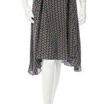 a.l.c. Aida Black/blue Silk Skirt Sz 0 Retail 525 Photo