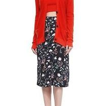 a.l.c. Alc Daniels Wrap-Front Black Floral Midi-Skirt Sz 0 Xs Retail 475 Nwt Photo