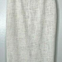 a.l.c. Alc Owen Midi Coated Tweed Burlap Pencil Skirt Linen Cotton Viscose Sz 2 Photo