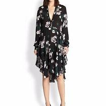 a.l.c. Alc Souls Silk Black Floral Dress Size 8 Photo