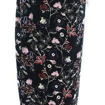 a.l.c. Black Women's Size 8 Wrap Sarong Silk Floral Printed Skirt 475- 108 Photo