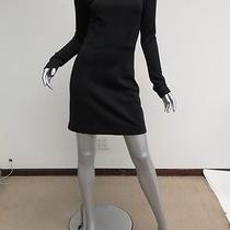 a.l.c. Boatneck Long Sleeve Dress Black Size 4 Gently Worn Photo