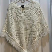 A L C Childrens Cape Shawl Side Length 20 Middle Length 28 With Tassels Photo