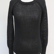 a.l.c. Crewneck Open Knit Sweater Spinal Back Black Size Small 325 Gently Worn Photo
