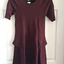 a.l.c. Dress Size Medium Burgundy Dress Peplum Nwt Authentic Pristine  Photo