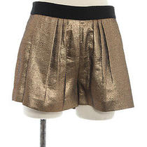 a.l.c. Fun Gold Woven Shorts. Size 33. Photo