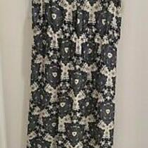 a.l.c. Printed Slit Maxi Dress Alc Black White Blue - Large Photo