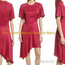 a.l.c. Tilly Asymmetrical Dress Berry Style 6dres00263 Size 2 Photo